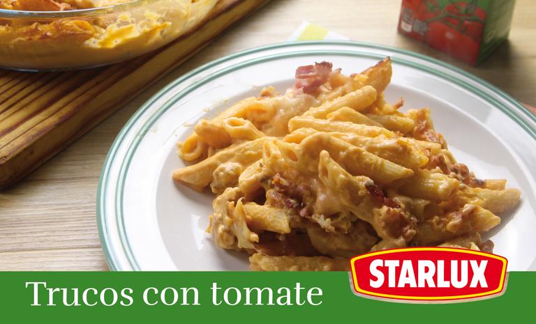 Truco para macarrones con salsa de nata y tomate frito - Salsa de tomate y nata ...