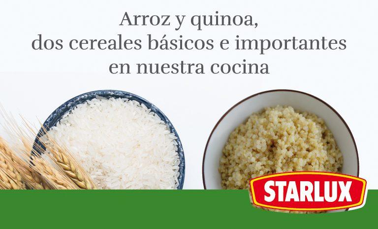 Arroz y quinoa, dos cereales básicos e importantes en nuestra cocina
